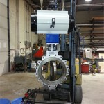"18"" Automated Butterfly Valve for Refineries"
